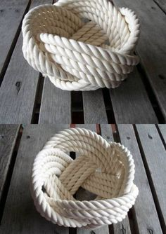 Roped Man Cave DecorKnot Roped Man Cave Decor Aprenda como hacer manualidades para todos Flower Girl Basket Natural Jute Rope Rope Bowl with Handle Rope Crafts, Beach Crafts, Men Crafts, Deco Marine, Rope Decor, Cotton Bowl, Rope Knots, Nautical Bathrooms, Rug Company