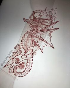 Today  @batcountryclub #sketching #seahorse #tattoo #drawing #art #sullenclothing