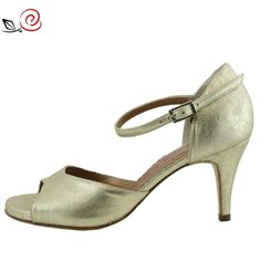Another splendid occasion! Giada in gold-cipria suede, Size 40, heel 7 cm at only 97,75 instead of 115 €!