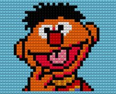 Auto-generated wallpaper. Plucky Duck from Tiny Toon Adventures rendered in Perler Beads in the same method used to make the Lego, cross stitch and tiled images.