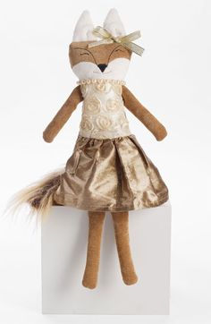 Woof & Poof 'Winter Fox - Girl' Decoration available at Nordstrom