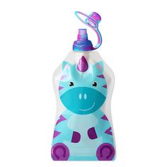 "ChooMee Snack'n Reusable Food and Drink Pouch - Unicorn, Aqua and Purple Sip'n Valve Top - ChooMee - Babies ""R"" Us"