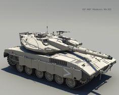 ArtStation - IDF MBT Merkava Mk. IIID, Byunghwa Jung