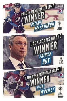 Colorado Avalanche Recipients of the 2014 NHL Awards