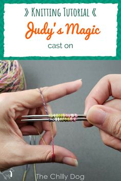 Knitting Tutorial: Judy's Magic Cast On Judy's magic cast on is a double sided cast on that's great for knitting projects that are worked in the round like toe . knitting for beginners knitting ideas knitting patterns knitting projects knitting sweater Knitting Help, Knitting Blogs, Knitting For Beginners, Knitting Socks, Loom Knitting, Knitting Designs, Knitting Stitches, Knitting Patterns Free, Knitting Projects
