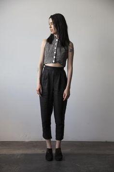 Simone Linen Trousers - Black