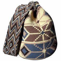$80.00 Retail Price LARGE Mochila Wayuu Bag   RETAIL + WHOLESALE   Handmade and Fair Trade Wayuu Mochila Bags LOMBIA & CO.   www.LombiaAndCo.com Tapestry Bag, Tapestry Crochet, Mochila Crochet, Poufs, Retail Price, Fair Trade, Vivid Colors, Diana, Mexico