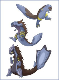 New fan game water starters by shinyscyther on deviantART
