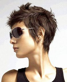 short spiky pixie hairstyle
