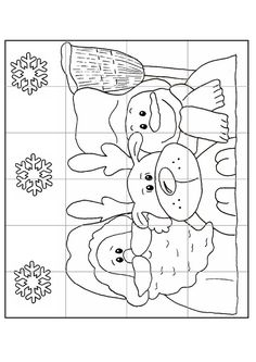 Gabarit - Calendrier de l'Avent puzzle n°2 Preschool Christmas, Kids Christmas, Christmas Crafts, Christmas Worksheets, Fun Worksheets, Christmas Colors, Christmas Themes, Free Coloring Pages, Coloring Books