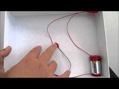 How to make a simple circuit with on/off switch for a light bulb - YouTube