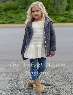 Listing for CROCHET PATTERN ONLY of The Breslin Sweater. This sweater is handcrafted and designed with comfort and warmth in mind…Perfect accessory for all seasons. All patterns are american english written instructions in standard US standard terms. **Sizes included 2/3, 4/5, 6/7, 8/9, 10/12, 14/16, Small, Medium, Large and X-Large sizes **Bulky weight yarn used. This sweater is designed with a positive ease of approx. 6-9 inches at chest. Circumference is measured with sweater buttoned...