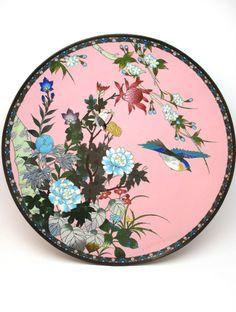 ANTIQUE LATE 19thC MEIJI (1868-1912) JAPANESE CLOISONNE ENAMEL CHARGER PLATE  sc 1 st  Pinterest & Antique meiji (1868-1912) japanese cloisonne enamel scalloped edge ...