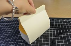 Silvey's Craftroom: Mini bag tutorial  Make a mini purse style bag with one sheet of 8 1/2 x 11 card stock and no cutting.