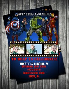 Love the Avengers Birthday Invitation for my little Iron Man!