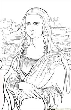 coloring Mona Lisa