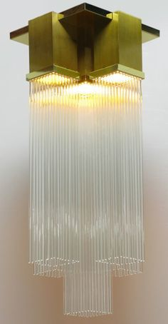 Gaetano Sciolari for Lightolier Glass Rod Flushmount | From a unique collection of antique and modern chandeliers and pendants  at https://www.1stdibs.com/furniture/lighting/chandeliers-pendant-lights/