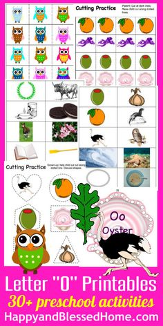 30+ FREE preschool Activities Learn to Read Preschool Alphabet Letter O Free printables HappyandBlessedHome.com