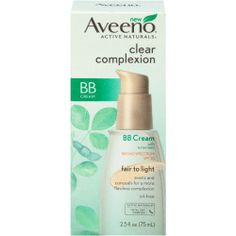 Aveeno Clear Complexion BB Cream Fair to Light Tint Facial Moisturizers 2.5 FL OZ BOX