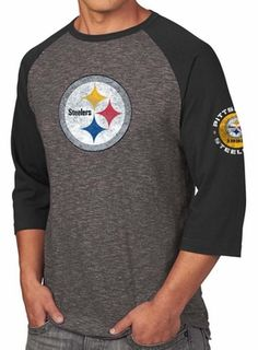 Pittsburgh Steelers Majestic NFL Great Move Mens 34 Sleeve TriBlend TShirt  -- Check out this great product. ace745225