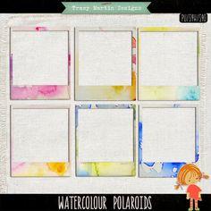 Watercolour Polaroids frames freebie from Tracy Martin Designs