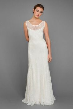 5 Insanely Pretty Wedding Dresses From a Designer I JUST Discovered! Weak-in-the-Knees Alert!: Save the Date: glamour.com