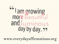 Daily Affirmations - 28 September 2013