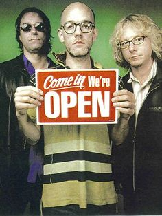 R.E.M. Peter Buck, Michael Stipe, Mike Mills