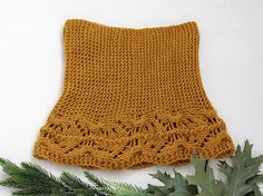 Knit cowl scarf Knitted Chunky Scarf Mustard by LovekaKnitting