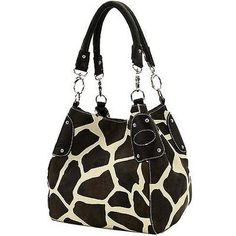 Black Large Vicky Giraffe Print Faux Leather Satchel Bag Handbag Purse - http://handbags.apparelique.com/womens-handbag/black-large-vicky-giraffe-print-faux-leather-satchel-bag-handbag-purse/