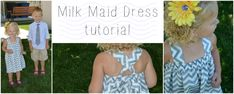 Milk Maid Dress Sewing Tutorial ...perfect for beginners!
