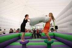 Holiday Inn pillow fight activation