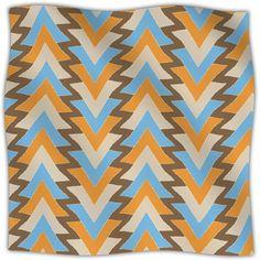 My Triangles Fleece Throw Blanket