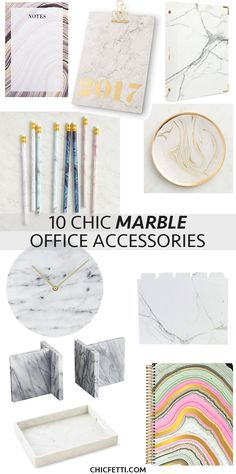 10 Chic Marble Office Accessories Decorate Your With These Finds