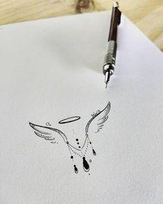 AKN on quot;Minimalist initial design assembled for client tattoo pollyannerb in honor of his angel Miguel. Mini Tattoos, Leg Tattoos, Body Art Tattoos, Small Tattoos, Tattoos For Guys, Tattoos For Women, Tattos, Initial Tattoo, Hand Tattoo