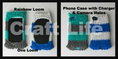 Craft Life Rainbow Loom Phone Case with Charger & Camera Holes Tutorial  ~fits iPhone & iPod