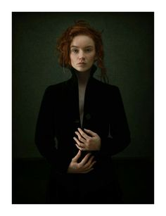 The unflappable.With Lauralou Abattu Louis Treserras Hyperrealism Paintings, Dark Gothic, Illustrations, Woman Face, Painting & Drawing, Redheads, Hogwarts, Cool Art, Beautiful People