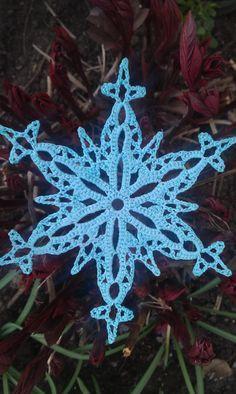 Snowflake crochet pattern. Free