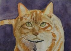 I love the cats and this is one of my watercolors.