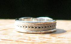 Custom horsehair ring sterling silver horsehair by Enigmahorse