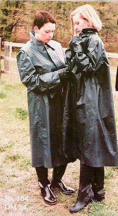 Rubber raincoat orgy