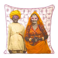 Turban Man 4 Cushion Cover, now featured on Fab. India Decor, Vintage India, Rug Sale, Floor Decor, Floor Rugs, Cushion Covers, Printed Cotton, Modern Decor, Digital Prints