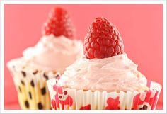 My favorite white chocolate raspberry cupcake is $3.50 at the local cupcakery. Think I'll try this version.