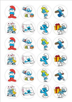 Smurfen cake toppers