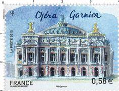 France Stamp 2010 - Opéra Garnier (Paris)