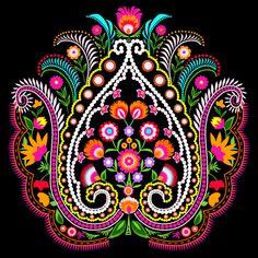 folk damask Throw Pillow by bachullus - Cover x with pillow insert - Indoor Hamsa Design, Mandala Design, Design Art, City Wallpaper, Colorful Wallpaper, Mandala Sketch, Hand Painted Fabric, Islamic Patterns, Mandala Stencils