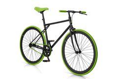 Fitnessbike, 28 Zoll, 1 Gang, Freilauf oder Fixed Gear, grün-schwarz »Unit 581 Coaster Brake 1 S«, MBM. Mit dem Fixie UNIT 581 von MBM ist es kein Problem, immer flott unterwegs zu sein. Der gemuffte Rahmen, sowie die gemuffte Gabel verleihen diesem Fahrrad seine Leichtigkeit und seine Eleganz. Die farblich aufeinander abgestimmten Komponenten gehen über den Sattel, die Griffe, die Reifen bis h...