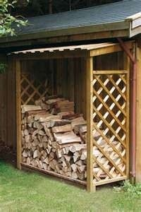 Wood Storage by the back deck for our fireplace. I would throw a few moth balls underneath to keep snakes away.