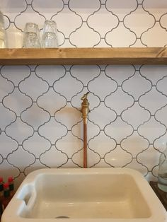 Kitchen Walls, Sink, Home Decor, Homemade Home Decor, Vessel Sink, Sink Tops, Sinks, Decoration Home, Wash Stand