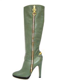 Unique Roberto Cavalli Leather Platform Boots